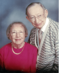 Photo of William (Bill) and Elinor Henning, whose steadfast support of Christian education and David's teaching ministry provided the foundational elements for the creation of this ministry.