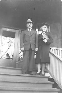 William Sr. and Mary Henning at home on South Wood Street, Chicago